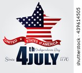 independence day 4th july.... | Shutterstock .eps vector #439614505
