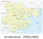 vector map of the county essex  ... | Shutterstock .eps vector #439614892