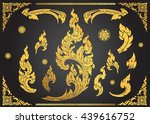 set of thai art element ethnic... | Shutterstock .eps vector #439616752