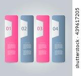 business infographics tabs... | Shutterstock .eps vector #439617205