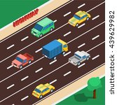 highway isometric concept... | Shutterstock .eps vector #439629982