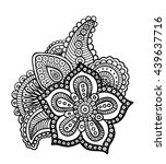 mehendi style floral ornament.... | Shutterstock .eps vector #439637716