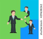 merger and acquisition design... | Shutterstock .eps vector #439638262