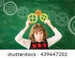back to school. schoolchild in... | Shutterstock . vector #439647202