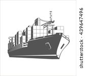 container ship. | Shutterstock . vector #439647496