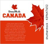 happy canada day poster template | Shutterstock .eps vector #439647652