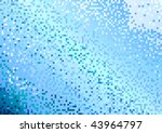 mosaic background in blue color