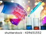 double exposure of scientist... | Shutterstock . vector #439651552