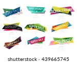 set of colorful geometric shape ... | Shutterstock .eps vector #439665745