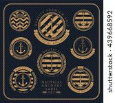 vintage nautical anchors label... | Shutterstock .eps vector #439668592