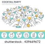cocktail party invitation... | Shutterstock .eps vector #439669672