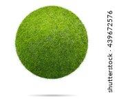 grass ball isolated on white... | Shutterstock . vector #439672576