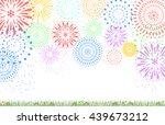 fireworks on the flower garden | Shutterstock .eps vector #439673212