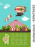 vector illustration calendar... | Shutterstock .eps vector #439675432
