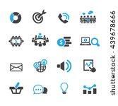 marketing icon set  vector | Shutterstock .eps vector #439678666