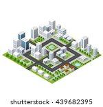 flat isometric map  landscape... | Shutterstock .eps vector #439682395