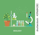 biology laboratory workspace... | Shutterstock .eps vector #439684282
