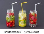 range of summer drinks with...   Shutterstock . vector #439688005