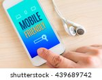 hand touch smart phone and ear...