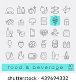 collection of food and beverage ... | Shutterstock .eps vector #439694332