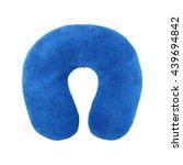 traveling blue sleeping pillow... | Shutterstock . vector #439694842