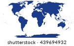 world map silhouette. the... | Shutterstock .eps vector #439694932