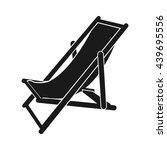 beach chair icon vector. flat...   Shutterstock .eps vector #439695556