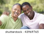 father with adult son in park   Shutterstock . vector #43969765