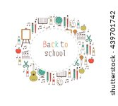 back to school and creative... | Shutterstock .eps vector #439701742