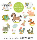 collection of cute cartoon... | Shutterstock .eps vector #439705726