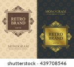 retro brand monogram design... | Shutterstock .eps vector #439708546