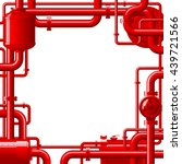 red gas pipes. industrial frame ... | Shutterstock .eps vector #439721566