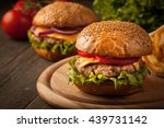 home made hamburger with beef ... | Shutterstock . vector #439731142