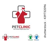 Pet Clinic  Logo With Dog  Cat...