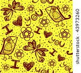 'i love you' seamless pattern... | Shutterstock .eps vector #43973260