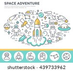 space concept illustration ... | Shutterstock .eps vector #439733962