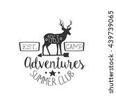 summer club adventures vintage...   Shutterstock .eps vector #439739065