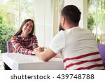 young happy smiling couple is... | Shutterstock . vector #439748788