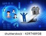 balance. leadership concept.... | Shutterstock . vector #439748938