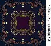 vector vintage border frame...   Shutterstock .eps vector #439755946