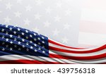 American Flag Background With...