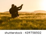 young  happy couple have a... | Shutterstock . vector #439758502