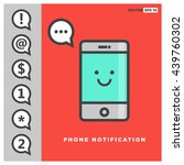 phone icon push notification ... | Shutterstock .eps vector #439760302