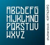 light futuristic cosmic typeset.... | Shutterstock .eps vector #439762492