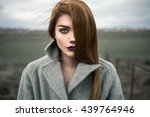 portrait of a beautiful young... | Shutterstock . vector #439764946