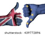 Union Jack Flag And European...