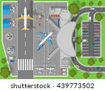 airport top view. terminal... | Shutterstock . vector #439773502