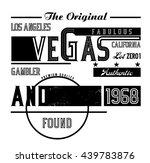 Vector Vegas Typographic...