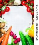 beautiful background healthy... | Shutterstock . vector #439787746
