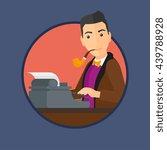 journalist writing an article... | Shutterstock .eps vector #439788928